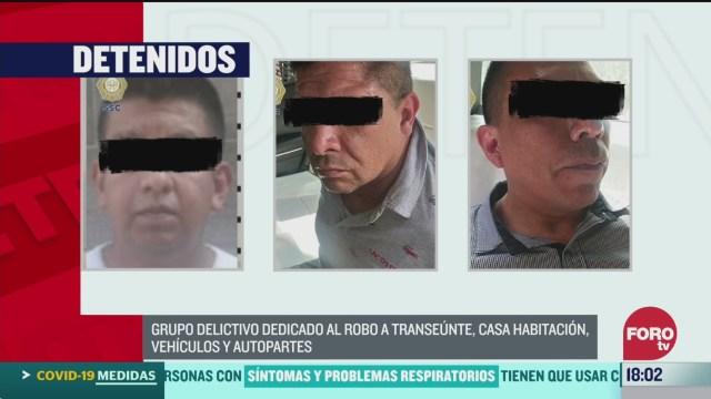 FOTO: 22 marzo 2020, desarticulan en la ciudad de mexico a banda dedicada al robo de transeuntes