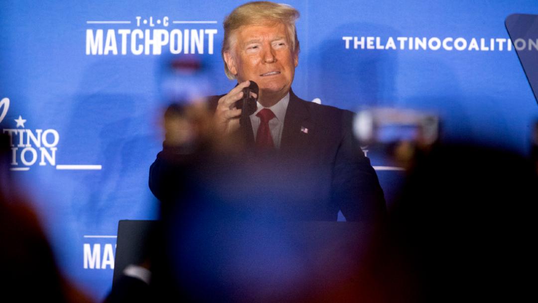 Foto: El presidente de Estados Unidos, Donald Trump, habla en la Cumbre Legislativa de la Coalición Latina, 4 marzo 2020