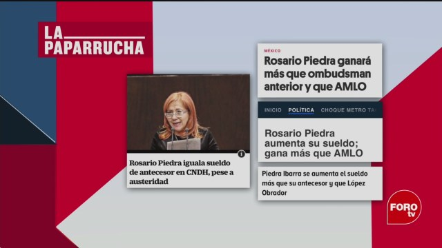 Foto: Salario Rosario Piedra Ibarra Cndh Noticias Falsas 11 Marzo 2020