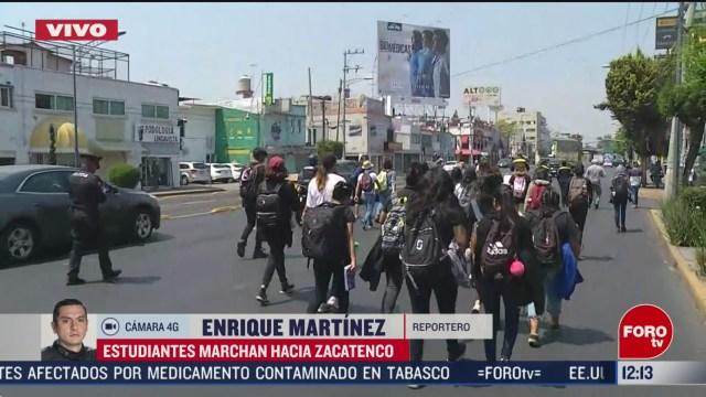 estudiantes del politecnico marchan hacia zacatenco afectan vialidad