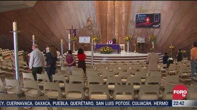 FOTO: 22 marzo 2020, feligreses se dan cita en iglesias para atender a misas dominicales pese a advertencia por coronavirus