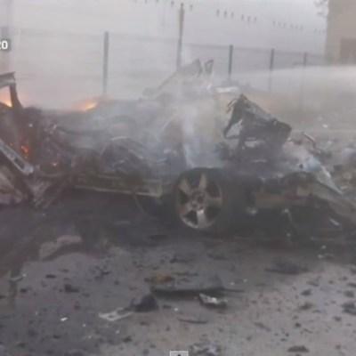 Investigan explosión de coche bomba en Celaya, Guanajuato