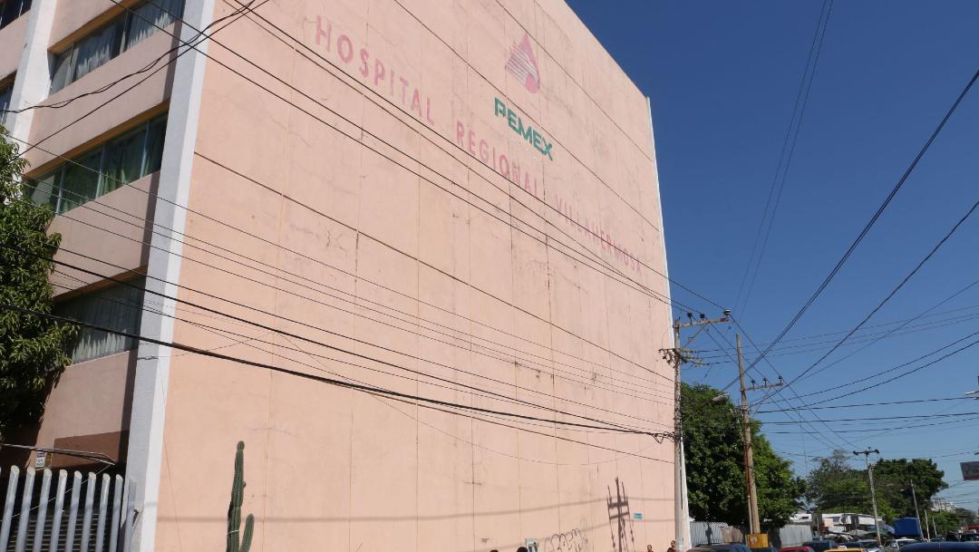 Foto: Fachada del Hospital Regional de Pemex en Villahermosa, 5 marzo 2020