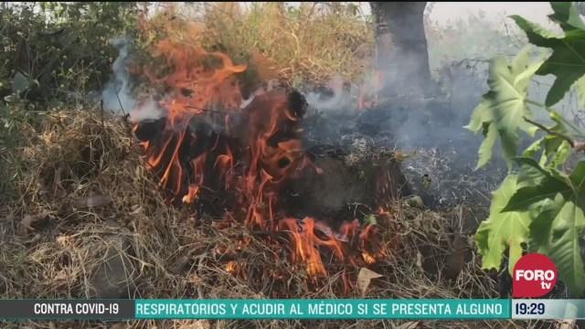 FOTO: 29 marzo 2020, incendios forestales consumen pastizales en puebla