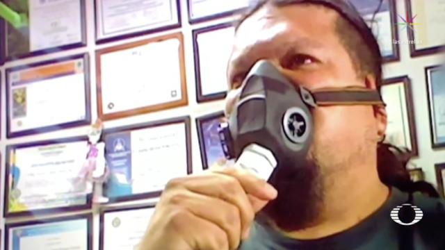 Coronavirus: Fabrican respirador artificial de bajo costo