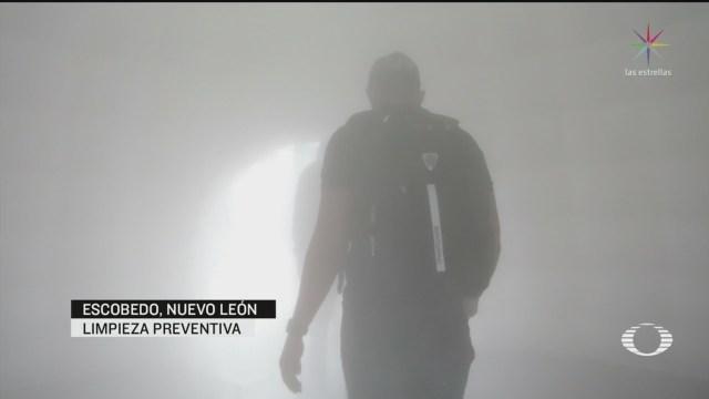 Foto: Coronavirus Instalan Iglús Sanitizadores Escobedo Nuevo León 30 Marzo 2020