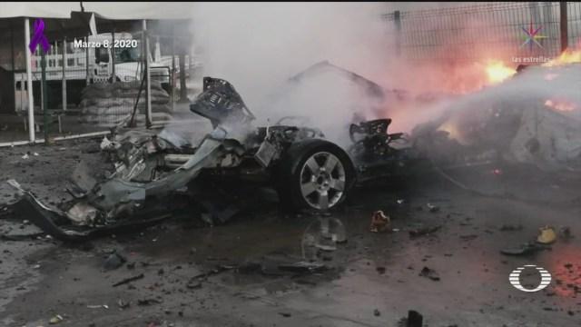 Foto: Explosión Coche Bomba Celaya Guanajuato Investigan 9 Marzo 2020