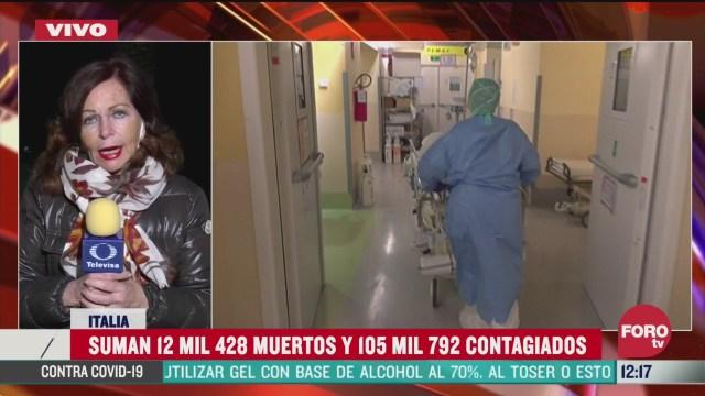 italia suma 12 mil 428 muertos y 105 mil 792 contagios por coronavirus