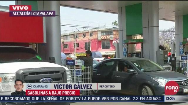 FOTO: largas filas en gasolinera de iztapalapa por bajos precios