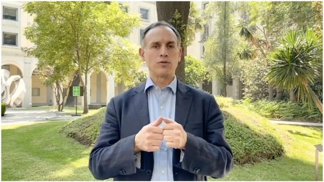 Foto: Hugo López-Gatell reiteró el llamado a quedarse en casa, 29 de marzo de 2020 (Twitter)