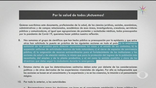 Foto: Médicos Estrategia Gobierno Federal Coronavirus Sector Salud 27 Marzo 2020