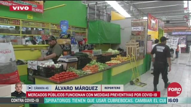 FOTO: mercados de la cdmx operan con medidas preventivas contra coronavirus