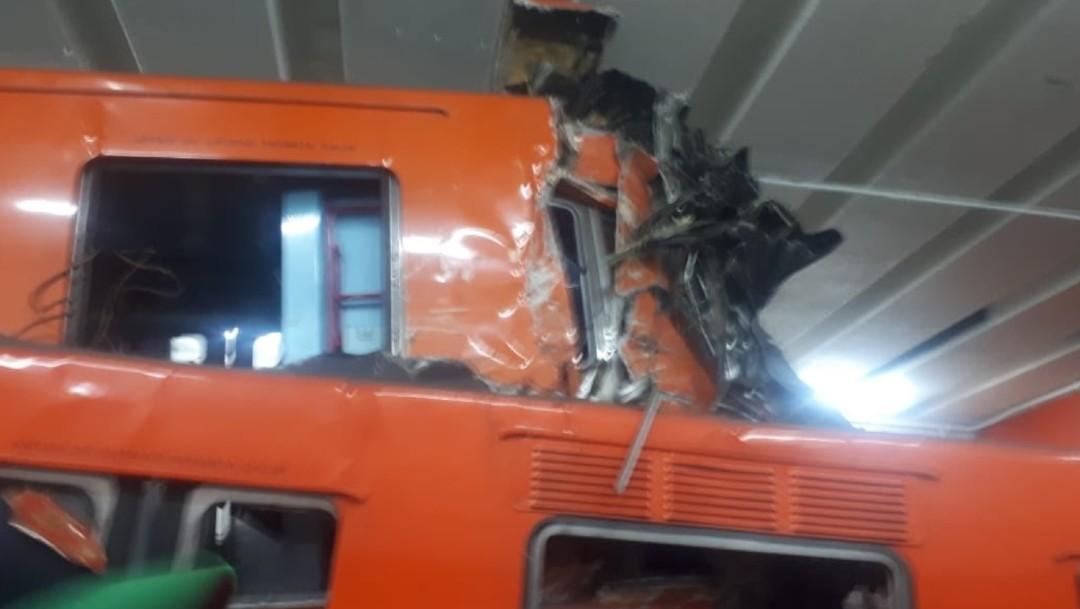 Chocan dos trenes en el Metro Tacubaya, de la CDMX