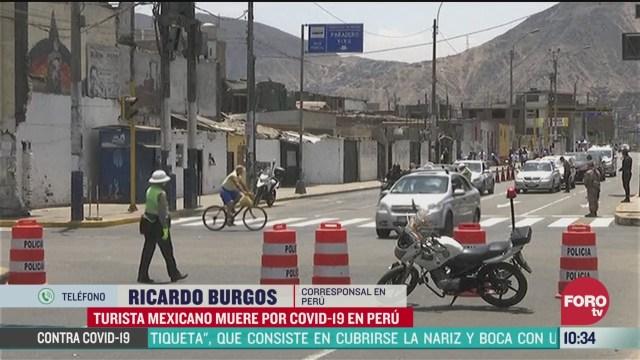 mexicano muere por coronavirus en peru