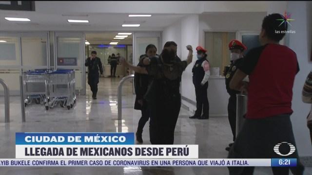 mexicanos llegan a la cdmx estaban varados en peru por coronavirus