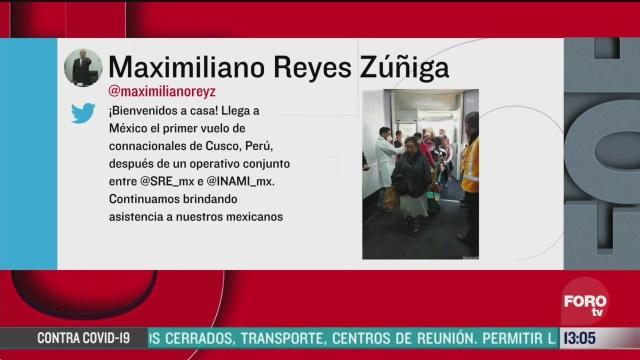 FOTO: 21 marzo 2020, mexico da la bienvenida a compatriotas varados en peru