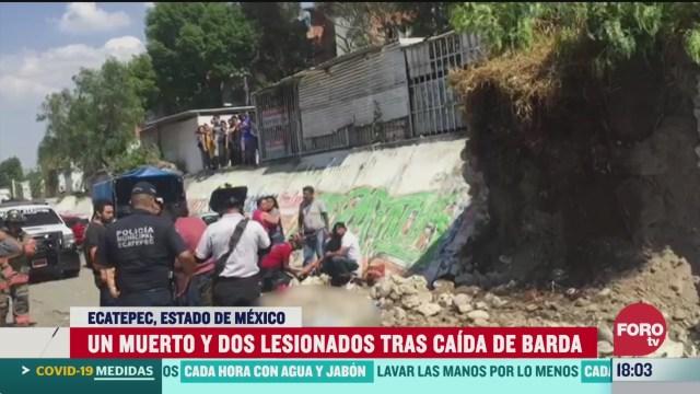 FOTO: 22 marzo 2020, muere una mujer tras caida de barda en ecatepec estado de mexico