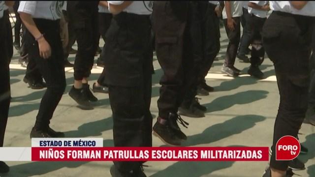 Foto: Niños Patrulla Militarizada Disminuir Violencia Escuelas 6 Marzo 2020