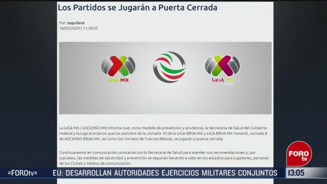 FOTO: 14 marzo 2020, partidos de liga mx se jugaran a puerta cerrada