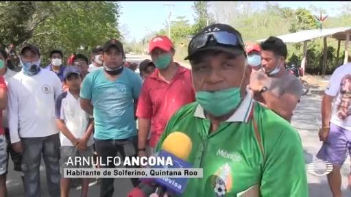 Foto: Coronavirus Pobladores Holbox Chiquilá Impiden Acceso Turistas 24 Marzo 2020