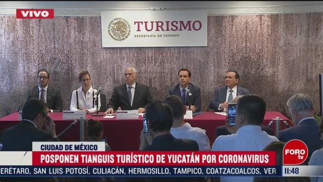 posponen tianguis turistico de yucatan por coronavirus