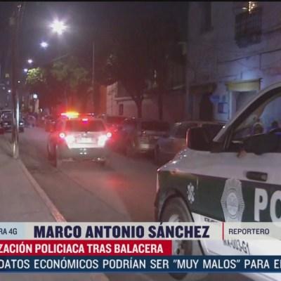 Reportan balacera en el barrio de Tepito