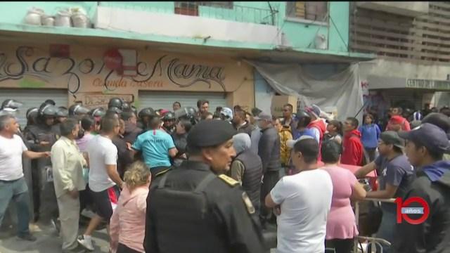 Foto: Video Riña San Antonio Abad Desalojo Cdmx 6 Marzo 2020