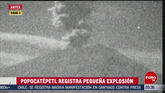 FOTO: 7 marzo 2020, se registra una pequena explosion en el popocateptl