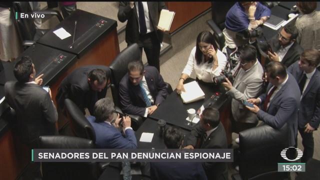 Senadores del PAN denuncian espionaje