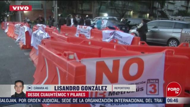 sigue bloqueo en avenida cuauhtemoc por obras del metrobus cdmx