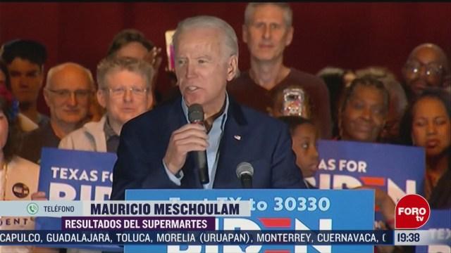 Foto: Supermartes Resurgimiento Joe Biden Primarias Democratas 3 Marzo 2020