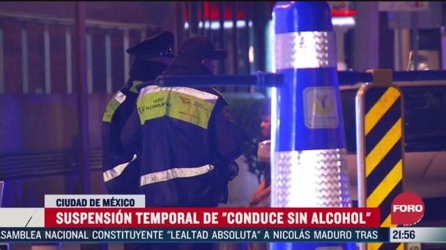 FOTO: 28 marzo 2020, suspenden programa conduce sin alcohol por coronavirus