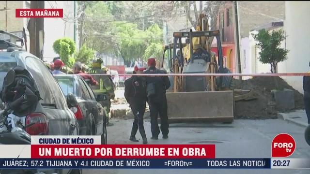 Foto: Muerto Derrumbe Obra Colonia Pensil Cdmx 9 Marzo 2020