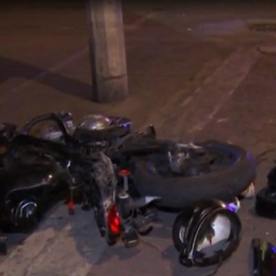FOTO: Motociclistas que trataban de huir de policías chocaron contra una patrulla en la CDMX, el 6 de marzo de 2020