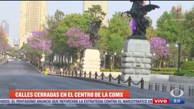 acordonan calles principales del centro cdmx por emergencia de coronavirus