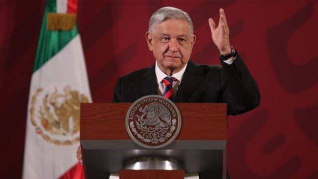 Foto: Andrés Manuel López Obrador, presidente de México, durante la conferencia matutina
