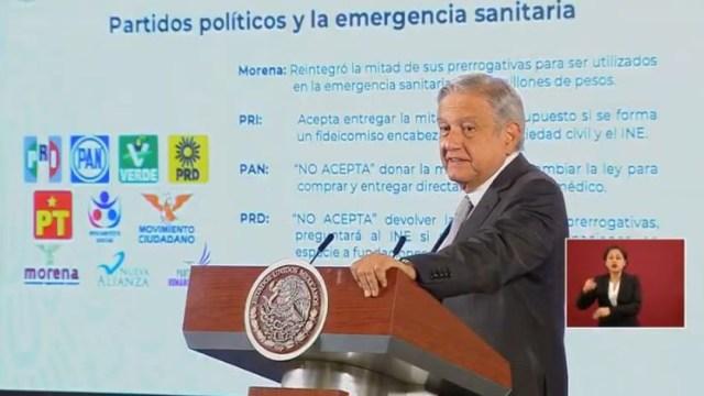 El presidente de México, Andrés Manuel López Obrador, en su conferencia de prensa matutina. (Foto: Redes sociales AMLO)
