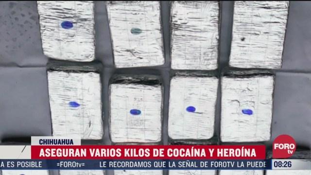FOTO: 5 de abril 2020, aseguran varios kilos de cocaina y heroina en chihuahua