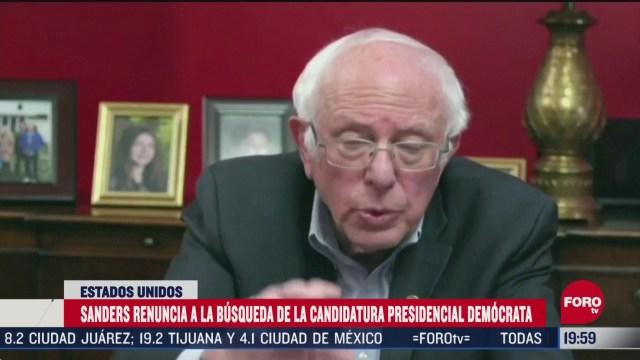 Foto: Bernie Sanders Abandona Carrera Presidencial 8 Abril 2020