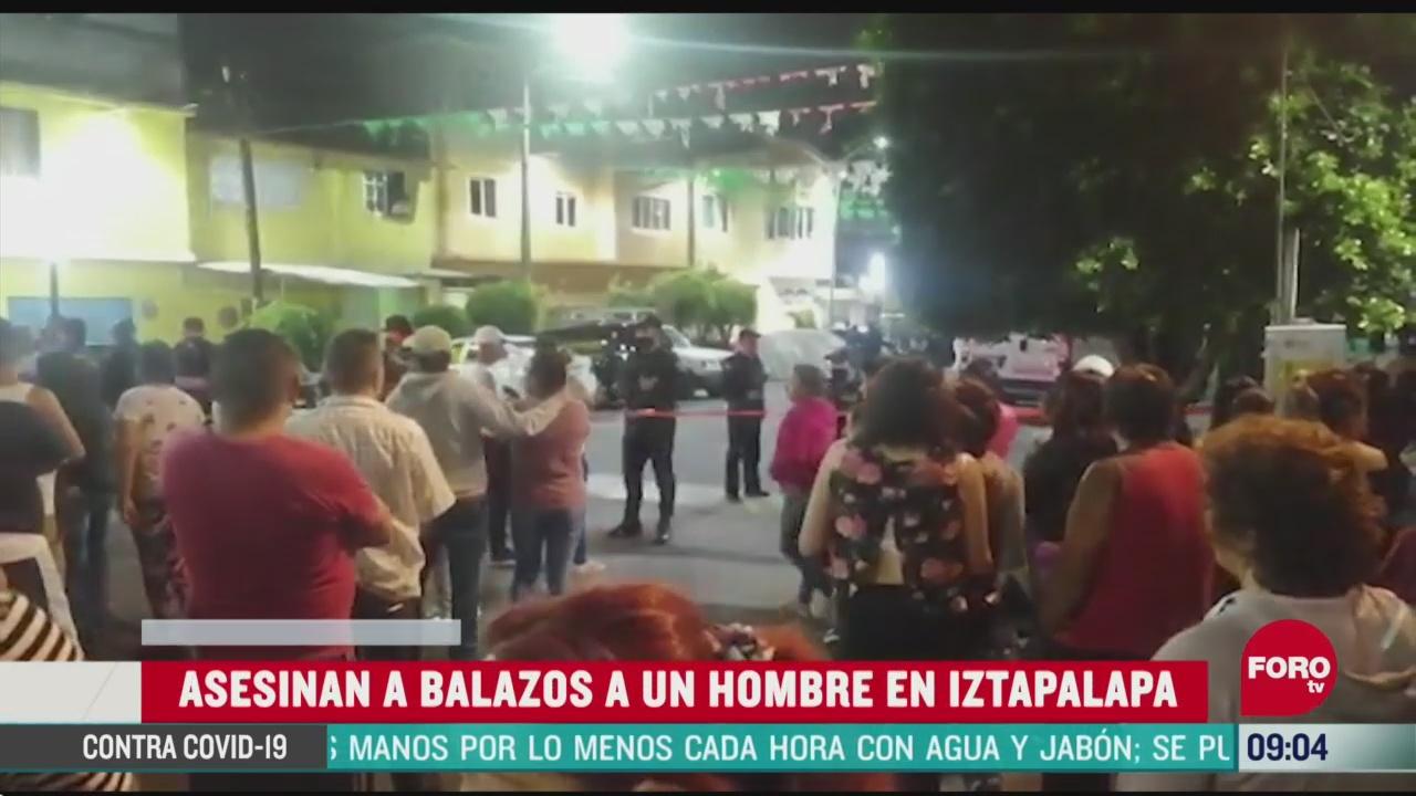 Asesinan a balazos a un hombre en Iztapalapa