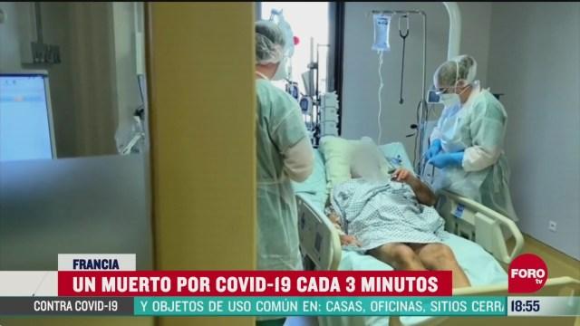 FOTO: cada 3 minutos una persona muere por coronavirus en francia