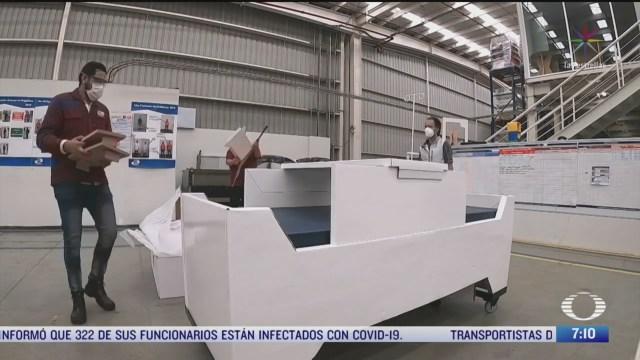 camas de carton para pacientes con coronavirus