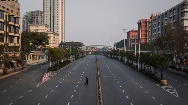 FOTO: Calles de Wuhan, China, el 26 de abril de 2020