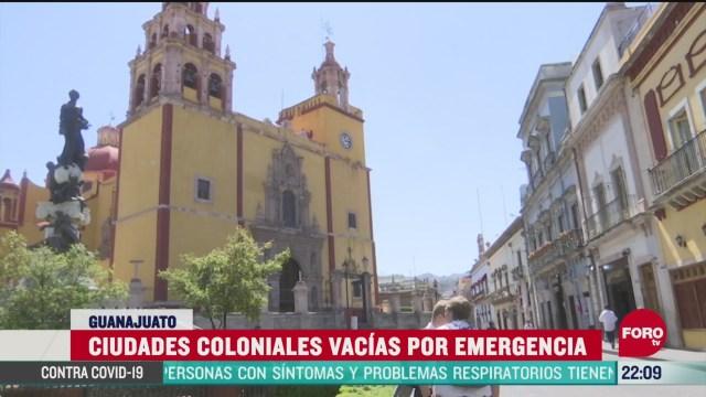 FOTO: 5 de abril 2020, ciudades coloniales de guanajuato se encuentran vacias por el coronavirus