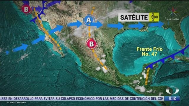 clima al aire frente frio provocara lluvias en el oriente centro y sur de mexico