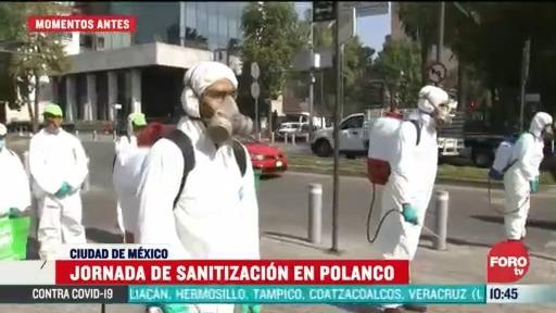 continua la jornada de sanitizacion en polanco