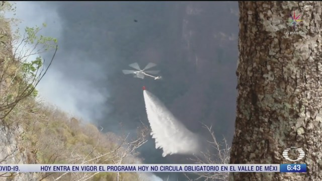 continua la lucha contra incendio en el canon del sumidero chiapas