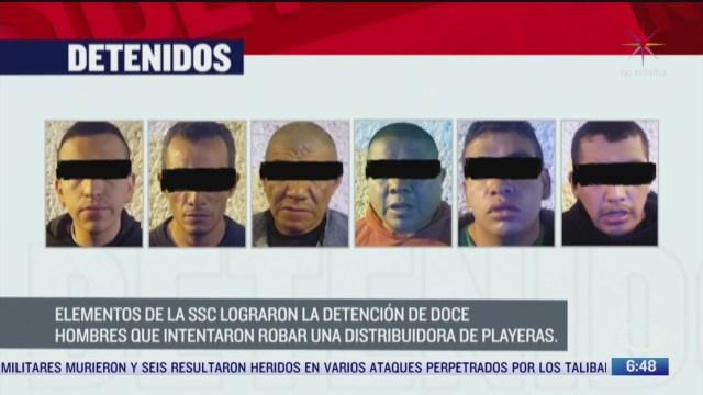 detienen a 12 personas por robo en alcaldia iztacalco
