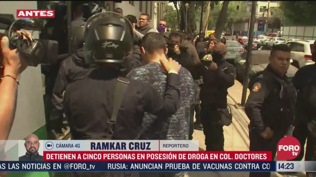 FOTO: detienen a cinco personas por posesion de droga en cdmx