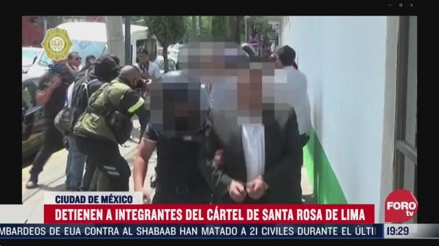 Foto: Detienen Cdmx Integrantes Cártel Santa Rosa De Lima 1 Abril 2020